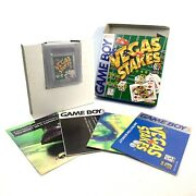 Vegas Stakes Nintendo Game Boy 1995 Complete Collectors Quality Near Mint