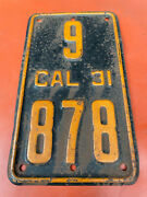 1931 California Motorcycle License Plate Indian Excelsior Henderson Harley 101 4