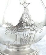France Superb Andsect Prestigious Teapot In Sterling Silver With Decor Of Fish 19th
