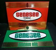 Vintage Red Genesee Beer And Green Cream Ale Bar Signs 9.75 X 15.75 Excellent