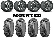 Kit 4 Cst Stag Tires 29x9-15/29x11-15 On Fuel Tech Beadlock Gray D919 Wheels Can