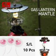 10x Universal Gas Lantern Mantles Fits Outdoor Camping Hiking Lights Cover S/l
