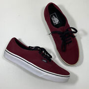 Off The Wall Classic Canvas Burgundy Skate Shoes Size Mens 8.5 Womens 10
