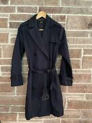 A.p.c. Navy Trench Coat Size Small