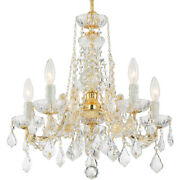 Crystorama 4476-gd-cl-s Maria Theresa Mini Chandelier Gold