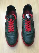 Mens Shoes Green Red Snakeskin Leather Trainers Sneakers Uk 11 Eu 45