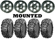 Kit 4 Cst Abuzz Tires 26x9-12 On Itp Ss212 Matte Black Wheels Can