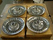 Nos Oem Buick 1965 1966 1967 Riviera Wire Wheel Covers Spinner Hub Caps 15