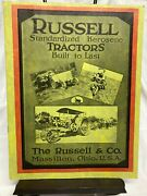 Antique 1919 Russell Tractors - Standardized Kerosene Tractor - The Russel And Co