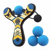 Mighty Fun Mischief Maker Wooden Toy Slingshot Real Wood And Soft Foam Balls Bl