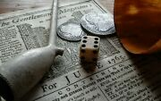 Single Authentic 1765 Stamp Act Tax Marked 1/2 Inch Bone Dice 18th Candnbsp Rev War