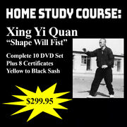 Hsing-i Quan Home Study Course 10 Dvds + 8 Certificates Limited Opportunities