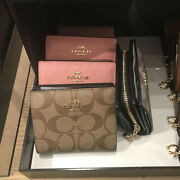 Nwt Coach Snap Wallet In Signature Canvas C3309