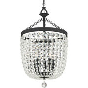 Crystorama 785-bf-cl-s Archer Chandelier Black Forged