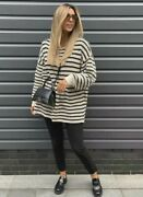 Zara Knit Oversized Sweater With Stripes - Size M L - Brand New - Sold Out