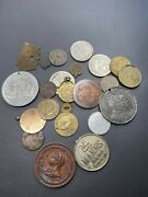 Collection Of Medals, Large Lead Medal, Gold Medal, Bronze Medal. Rare Medals.