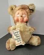 Rushton Vintage 1978 Crying/sad Bear Collector Condition With Tush/factory Tags