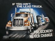 Large 90s Vintage Truckers Only 3d Emblem If You Aint The Lead Truck Ss Shirt