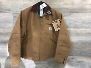 Nos 1980s Detroit Blanket Lined Work Jacket Size 44 Made In Usa Nwts