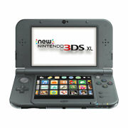 Nintendo New 3ds Xl Black Video Game Console With Sd Card Stylus And Charger