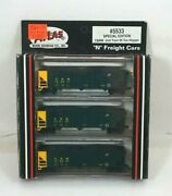 Nos Atlas Chicago And North Western N Scale 90 Ton Hopper Car Set - 5533