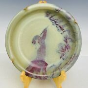 8.1 China Old Antique Porcelain Song Dynasty Jun Kiln Museum Mark Person Plate