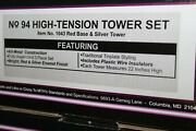 Mth 10-1043 Tinplate Traditions No.94 High Tension Tower Set Red/silver