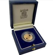 1984 Great Britain Proof Half Sovereign Gold Coin - Still Sealed From Royal Mint