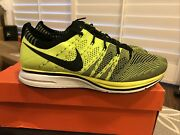Nike Flyknit Trainer+ Volt Black 2012 - Size 8.5 Usa Olympic Vnds Rare