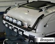 To Fit Kenworth W900 Black Front Roof Light Bar + Jumbo Spots + Clear Beacons