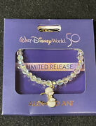Disney Alex And Ani Limited Release 50th Anniversary Beaded Bracelet New In Hand