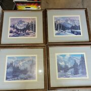 Sharon Achtyes Limited Edition Print Set Of 4 Summer, Spring Fall And Winter Frame