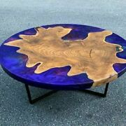48and039and039 Epoxy Resin Center Coffee Resin Wooden Table Top Home Furniture K5