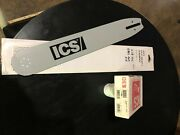 New Ics Concrete Saw -513122- Guide Bar And New Chain Fits 613gc 680gc 680es