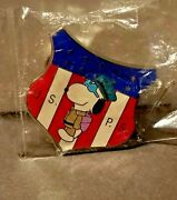 Usps Snoopy Pin - Mail - Peanuts Golden Collection - New