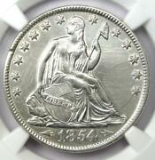 1854-o Arrows Seated Liberty Half Dollar 50c - Ngc Au Details - Rare Date Coin