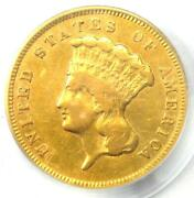 1874 Three Dollar Indian Gold Coin 3 - Certified Pcgs Genuine - Xf Details
