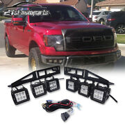 Led Work Light Pod Steel Bumper Mount Wiring Harness Spot Lights Switch For Ford