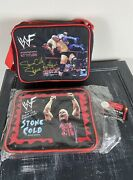 Lot Of 2 Vintage 90s Wwe Stone Cold Steve Austin Lunch Boxes