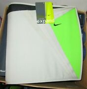 Nike Mead 3 Ring Zipper Binder Expand Rare Green And Gray Discontinued And Rare