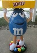 New Blue Mandm Character Store Display Collectible Rare Mandm. Sealed In The Box