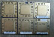 Lot 6x Hp Vintage Ceramic Cpu For Gold Scrap Recovery Rare