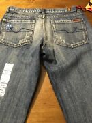 7 For All Mankind Women's Jeans Great Wall Distressed Jeweled Size 30 X 33 Nwt