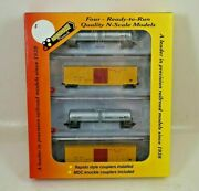 Nos Roundhouse Modern Military N Scale Four Pak Tank And Box Car Set - 89471