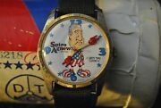 1970 Spiro Agnew Dirty Time Watch With Original Shipper Peace Baby Dial