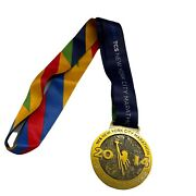 2014 Tcs New York City Marathon Ny Road Runners Finisher Medal With Ribbon