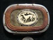 Antique Leather Coin Purse Whippet Or Greyhound And Design On Back