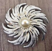 Authentic Vintage Sarah Coventry Silver Tone Star Swirl Swirling Brooch