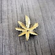 Authentic Vintage Sarah Coventry Gold Tone Chestnut Tree Leaf Brooch