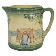 Roseville Pottery 1910-16 Early Ware Green Bridge Pitcher